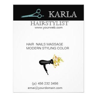 Estilo HairDrier del cuidado del cabello del Folleto 11,4 X 14,2 Cm