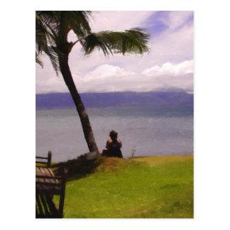 Estilo hawaiano de relajación postal