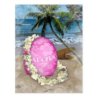 Estilo hawaiano de saludo de Pascua Postal