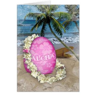Estilo hawaiano de saludo de Pascua Tarjetas