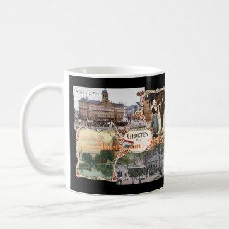Estilo Holanda Amsterdam vieja del vintage Taza De Café