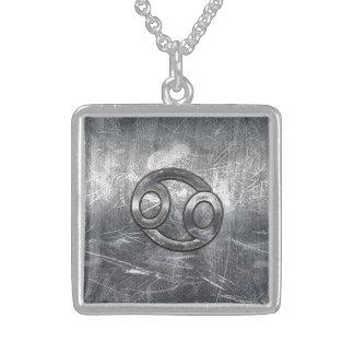 Estilo industrial del símbolo del zodiaco del colgante cuadrado
