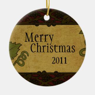 Estilo italiano - el restaurante/la tienda añade ornaments para arbol de navidad