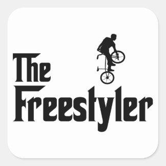 Estilo libre BMX Pegatina Cuadrada