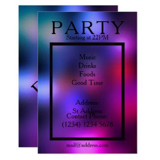 Estilo liso fresco del club de la noche del fiesta invitación 8,9 x 12,7 cm