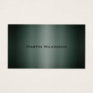 Estilo metálico verde oscuro de la placa del tarjeta de visita