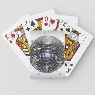 Estilo retro 70s de la bola de discoteca baraja de cartas