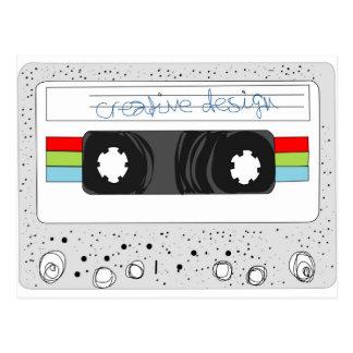 Estilo retro de la cinta de casete 80s postales