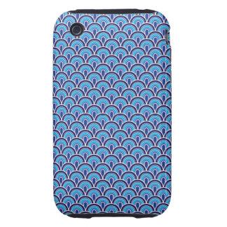 estilo retro de la textura de la tela del caso del iPhone 3 tough fundas