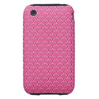 estilo retro de la textura de la tela del caso del iPhone 3 tough funda