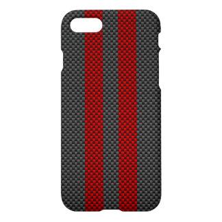 Estilo rojo de la fibra de carbono de Borgoña que Funda Para iPhone 7