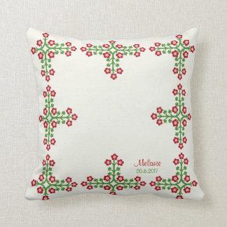Estilo romántico CC0295 del bordado de flores Cojín Decorativo
