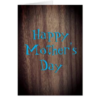 Estilo rústico feliz del día de madre tarjeta