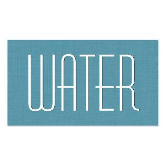 Estilo simple V39X del FONTANERO de la aguamarina Tarjetas De Visita