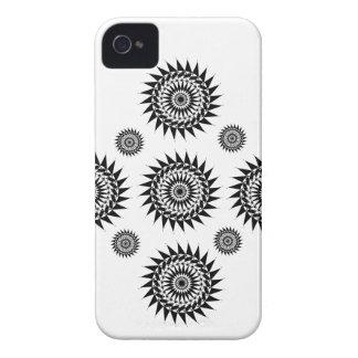 Estilo trasero y blanco iPhone 4 protector