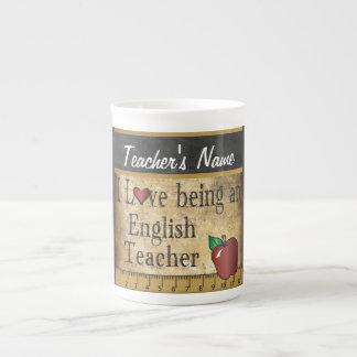 Estilo único del vintage del profesor de escuela taza de porcelana