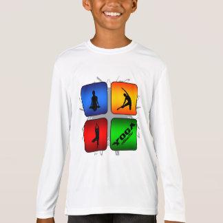 Estilo urbano de la yoga asombrosa camiseta