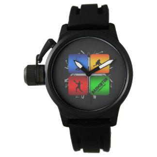 Estilo urbano del bádminton asombroso reloj de pulsera