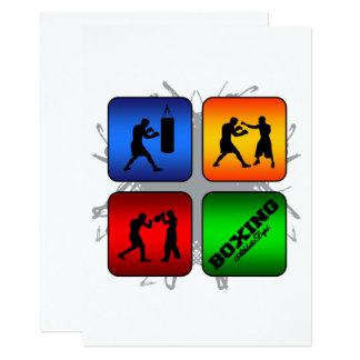 Estilo urbano del boxeo asombroso invitación 12,7 x 17,8 cm