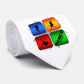 Estilo urbano del esquí asombroso corbatas personalizadas