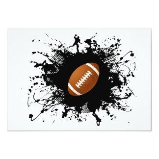 Estilo urbano del fútbol invitación 12,7 x 17,8 cm