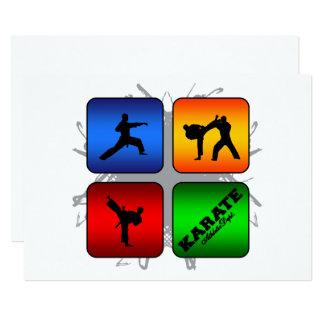 Estilo urbano del karate asombroso invitación 12,7 x 17,8 cm