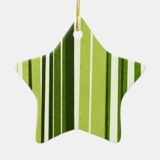Estilo verde del bambú de las rayas adorno de cerámica en forma de estrella