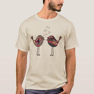 Estilo yemení de los pájaros camiseta