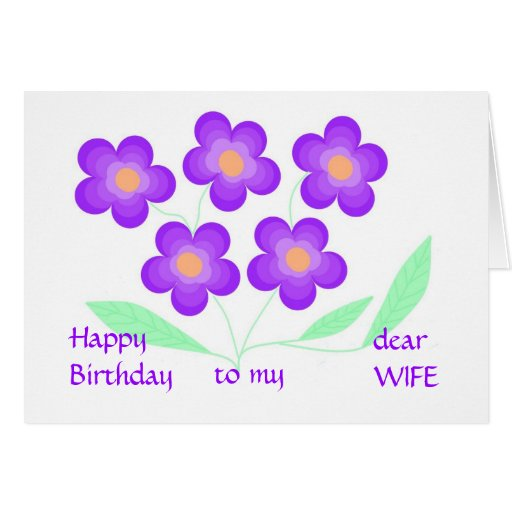 Estimada esposa del feliz cumpleaños felicitacion