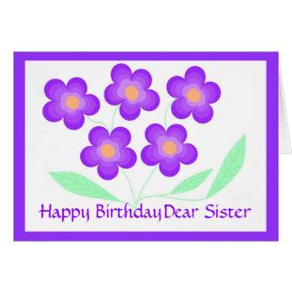 Estimada hermana del feliz cumpleaños felicitaciones