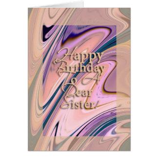 ¡Estimada hermana del feliz cumpleaños! Felicitacion
