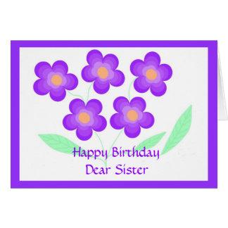 Estimada hermana del feliz cumpleaños tarjeta de felicitación