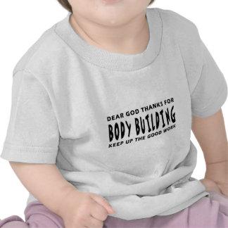 Estimadas gracias de dios por culturismo camisetas