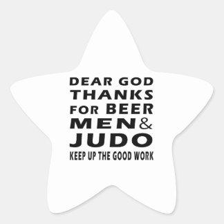 Estimadas gracias de dios por hombres y judo de la pegatina en forma de estrella