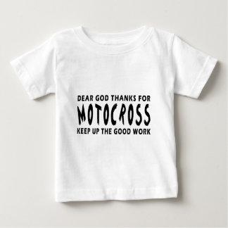 Estimadas gracias de dios por motocrós camisetas