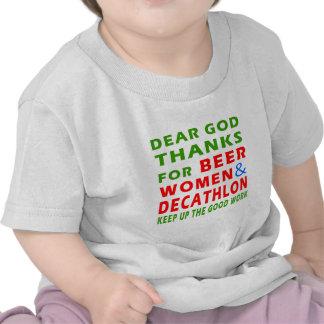 Estimadas gracias de dios por mujeres y Decathlon Camisetas