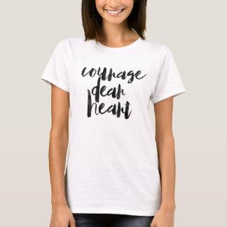 Estimado corazón del valor camiseta