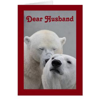 Estimado marido de la tarjeta del día de San