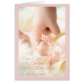 Estimado niño, te amo con todo mi corazón tarjeta de felicitación