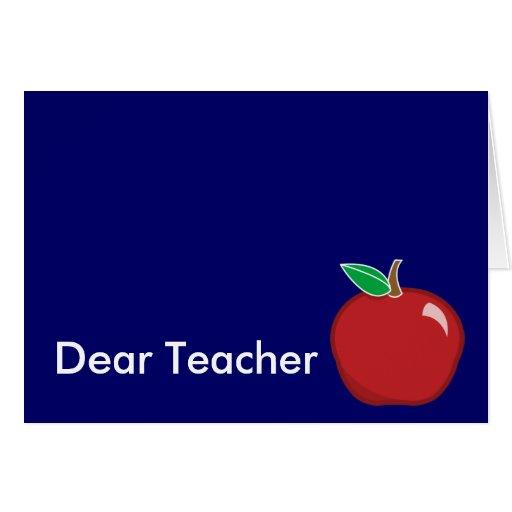 Estimado Profesor-Personalizar Felicitación