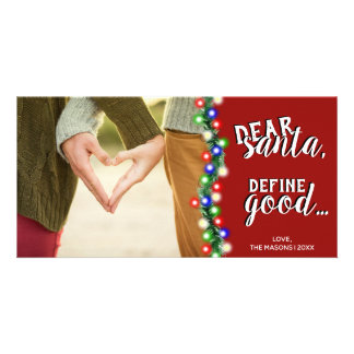 Estimado Santa define la buena tarjeta de Navidad