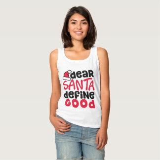 Estimado Santa define las buenas camisetas sin