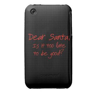 Estimado Santa, es él demasiado atrasado ser bueno iPhone 3 Case-Mate Fundas