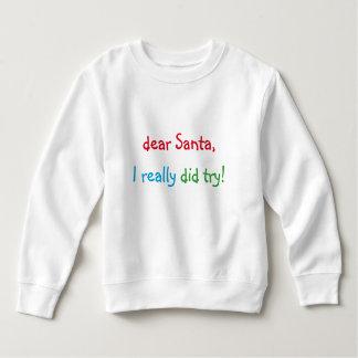 Estimado Santa intenté realmente la camiseta