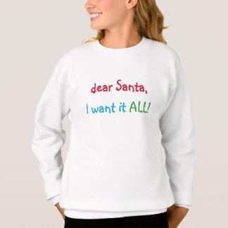 Estimado Santa lo quiero la camiseta el |