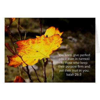 Estímulo de la escritura del 26:3 de Isaías Tarjeta De Felicitación