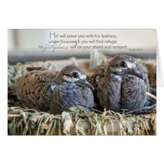 Estímulo de la paloma tarjeta de felicitación