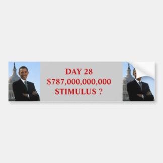 Estímulo de Obama Pegatina Para Coche