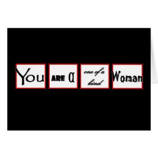 Estímulo del divorcio usted es uno de una mujer tarjeta de felicitación