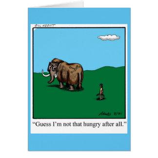 Estímulo del humor de la tarjeta de felicitación